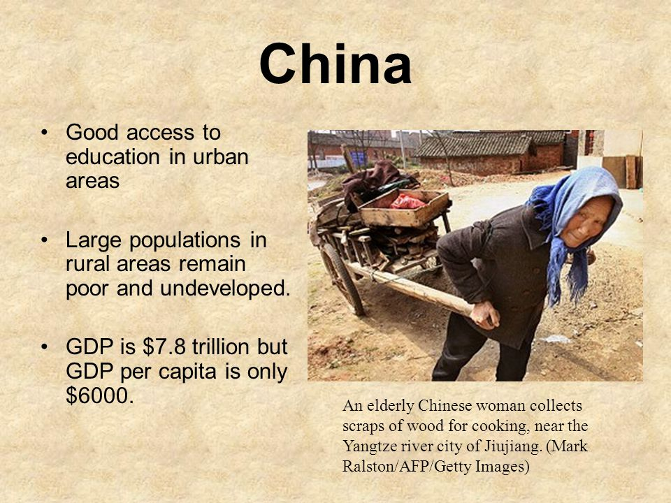 China Good access to education in urban areas