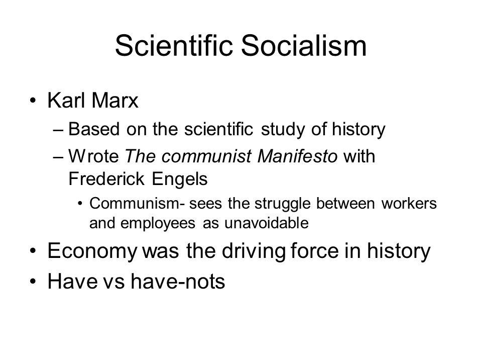 Scientific Socialism Karl Marx