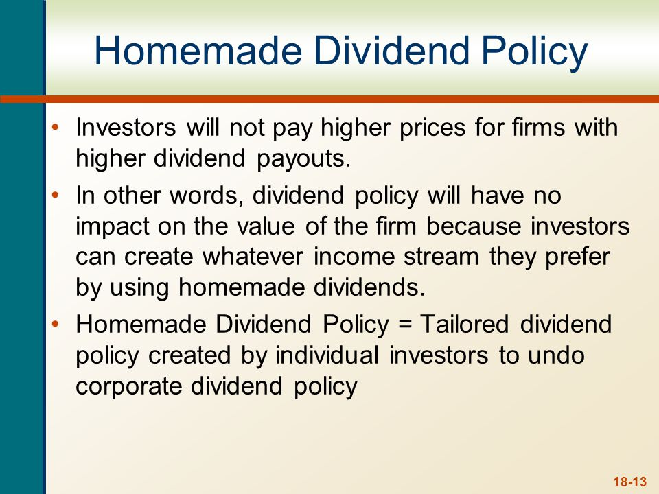 Homemade Dividend - Example