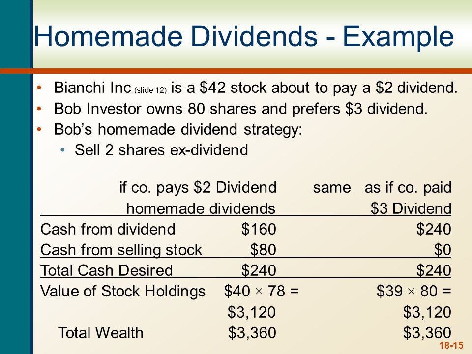 Dividend Policy is Irrelevant