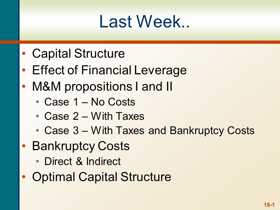 Chapter 18 Outline Cash Dividends and Dividend Payment