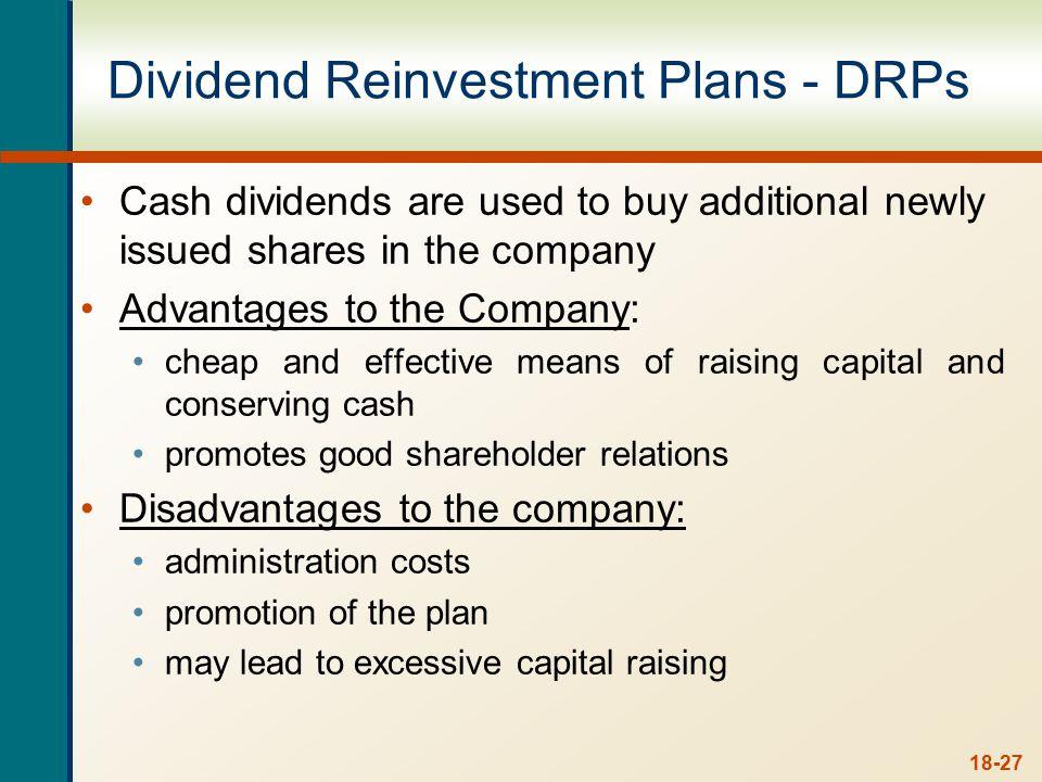 Dividend Reinvestment Plans - DRPs