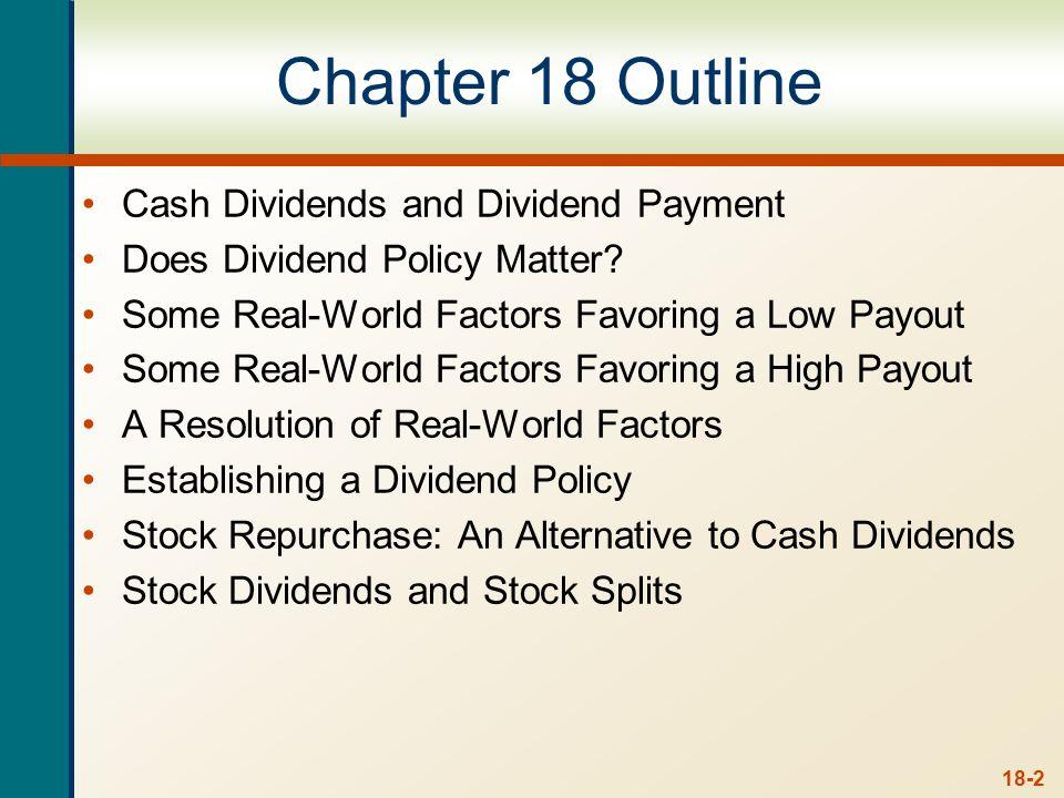 Cash Dividends Regular cash dividend Extra cash dividend