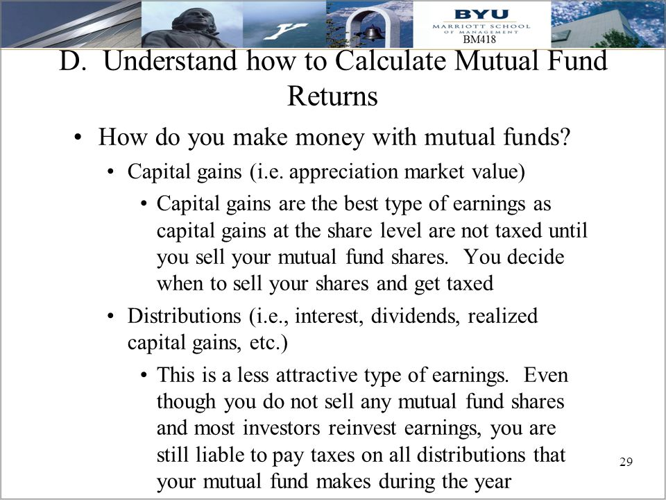 D. Understand how to Calculate Mutual Fund Returns