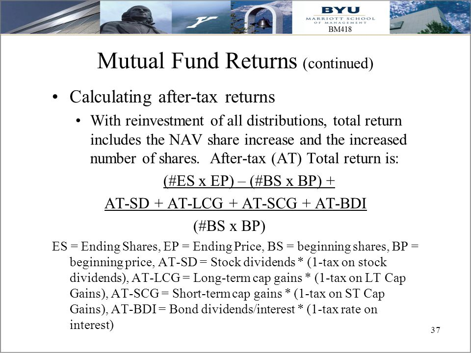 Mutual Fund Returns (continued)