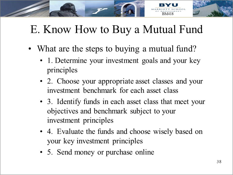 E. Know How to Buy a Mutual Fund