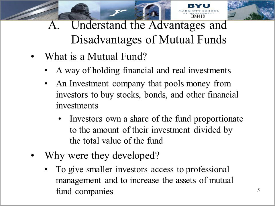 Understand the Advantages and Disadvantages of Mutual Funds