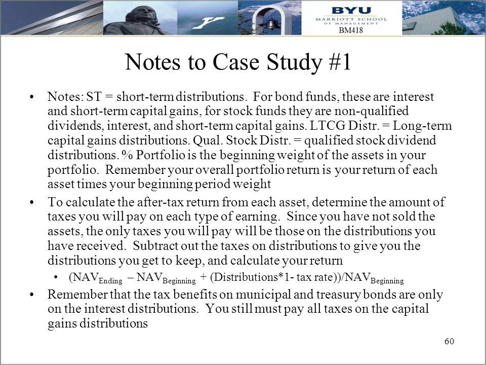 Notes to Case Study #1