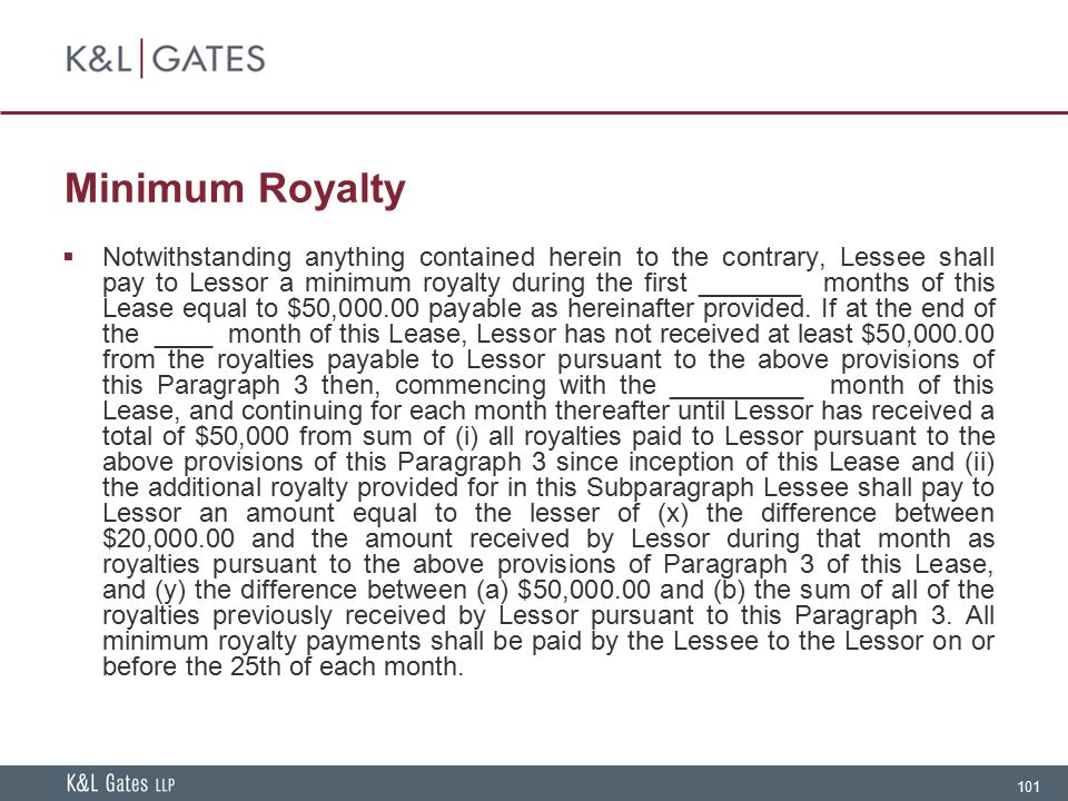 Minimum Royalty