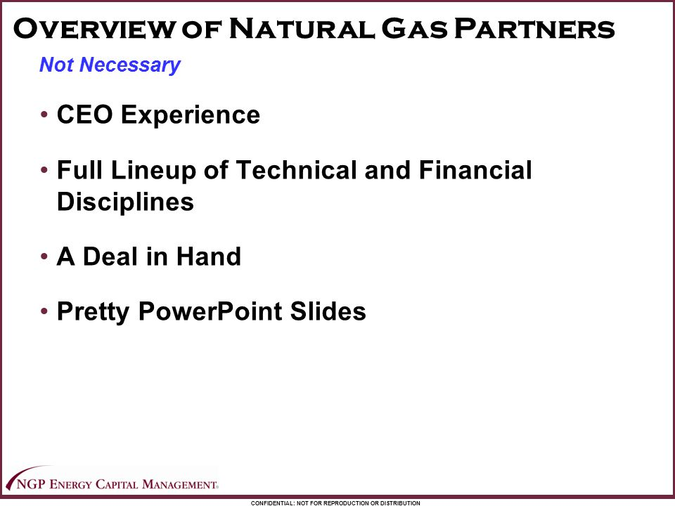 Overview of Natural Gas Partners