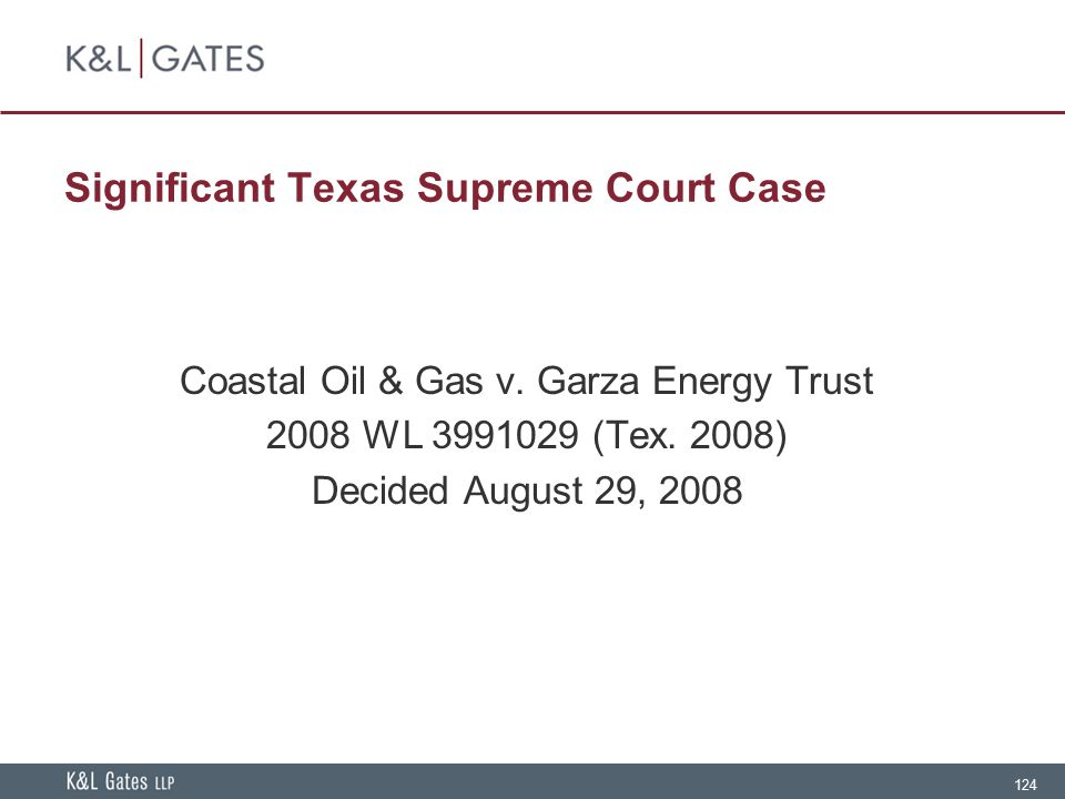 Significant Texas Supreme Court Case