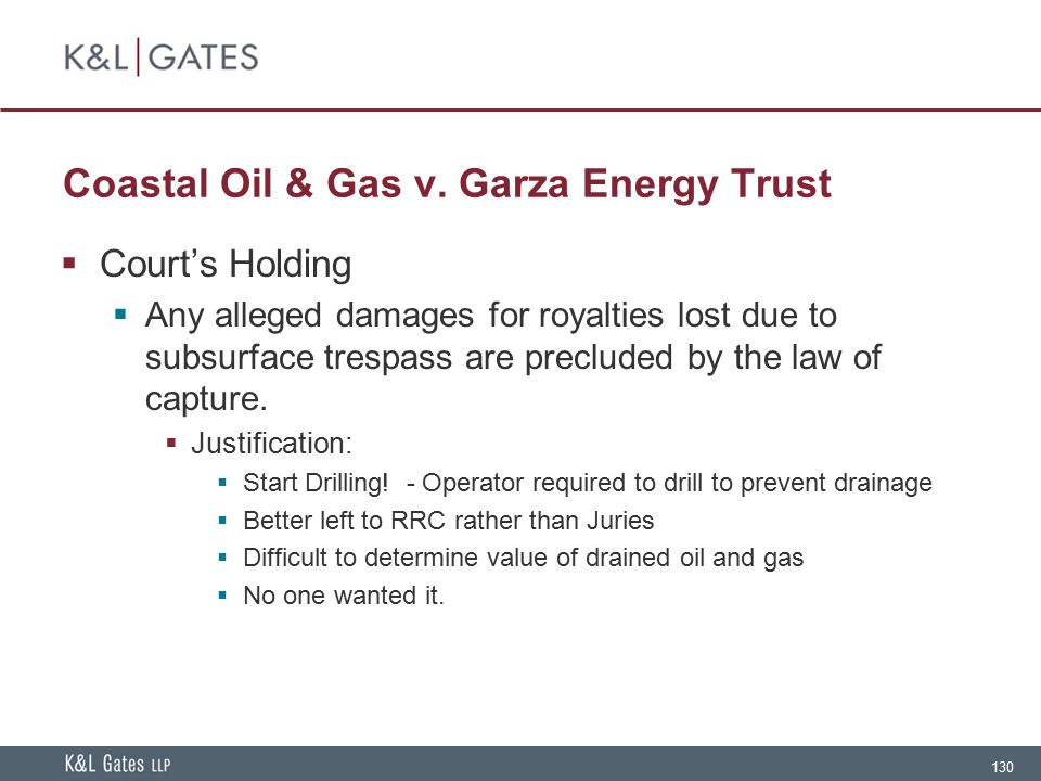 Coastal Oil & Gas v. Garza Energy Trust