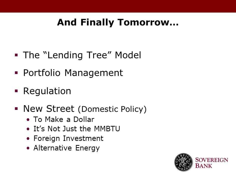The Lending Tree Model Portfolio Management Regulation