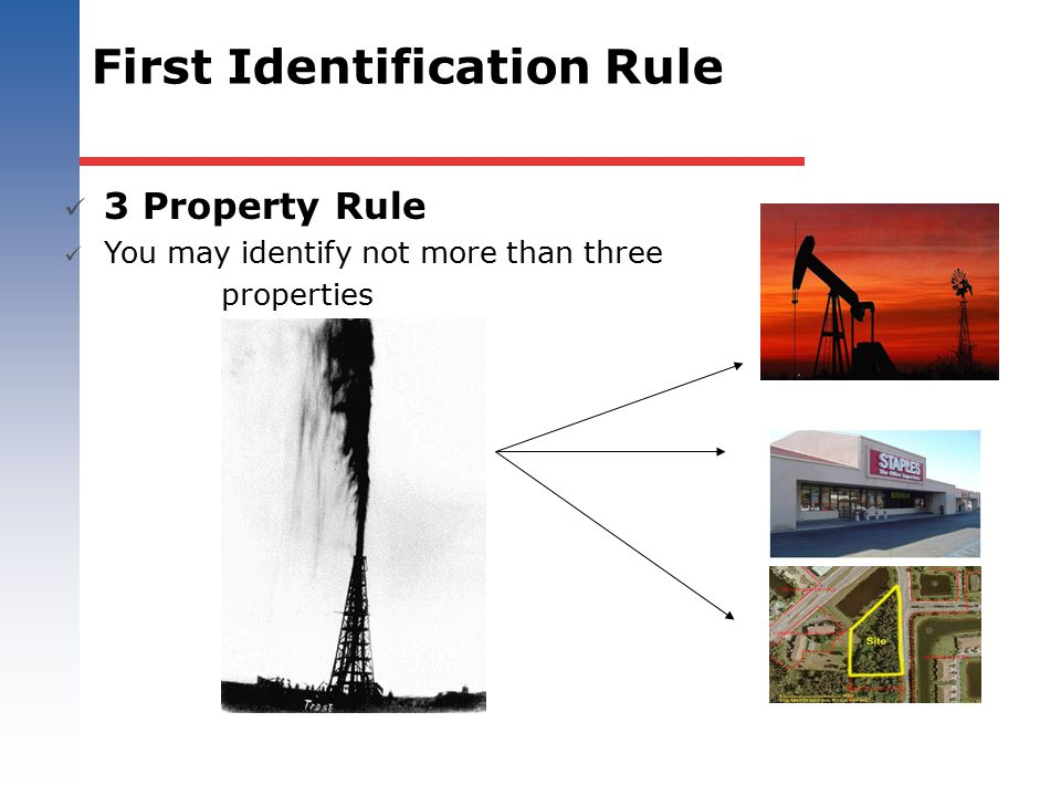 First Identification Rule