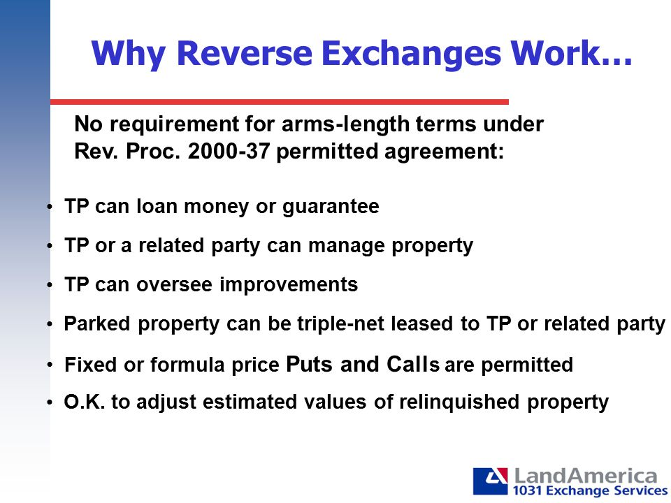 Why Reverse Exchanges Work…