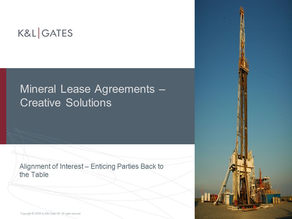 Mineral Lease Agreements – Creative Solutions