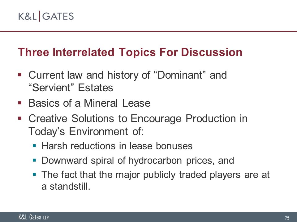 Three Interrelated Topics For Discussion