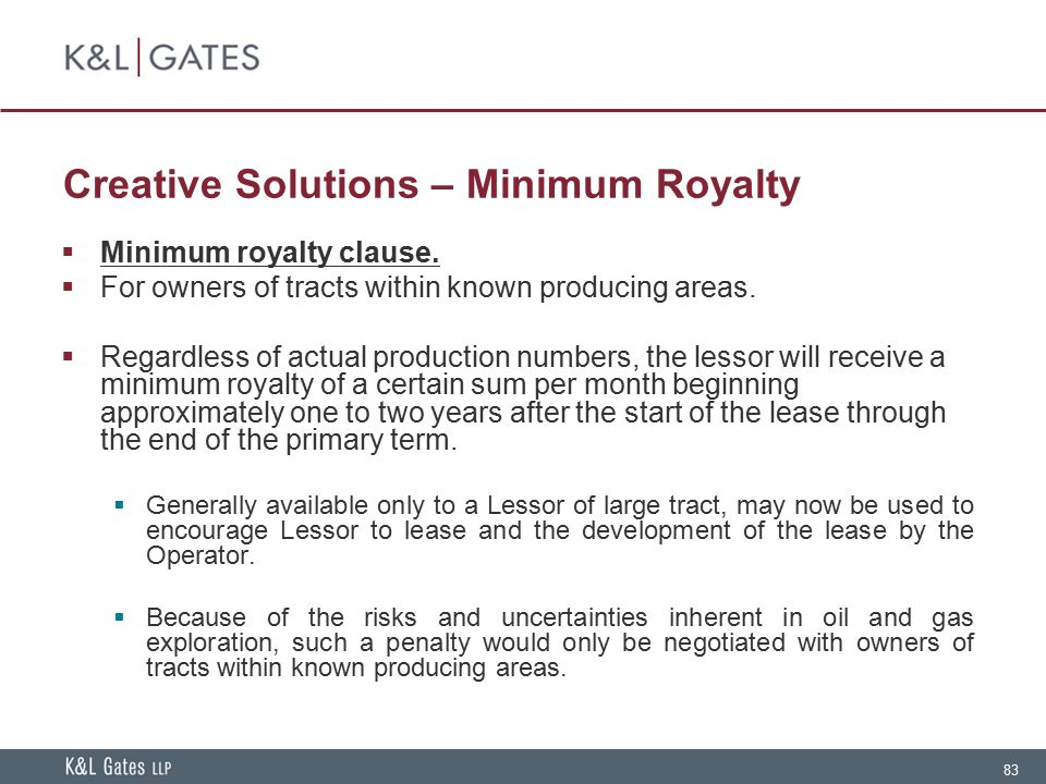 Creative Solutions – Minimum Royalty