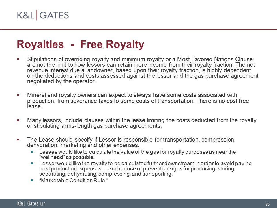 Royalties - Free Royalty