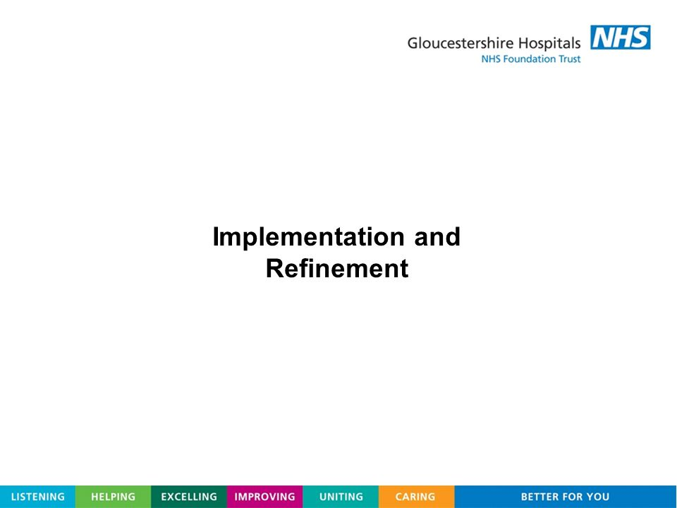 Implementation and Refinement
