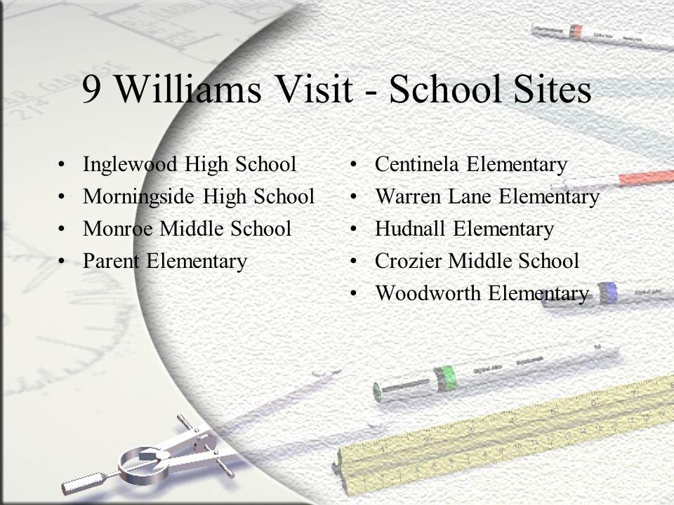 9 Williams Visit - School Sites