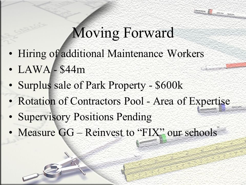 Moving Forward Hiring of additional Maintenance Workers LAWA - $44m