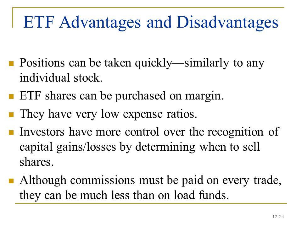 ETF Advantages and Disadvantages