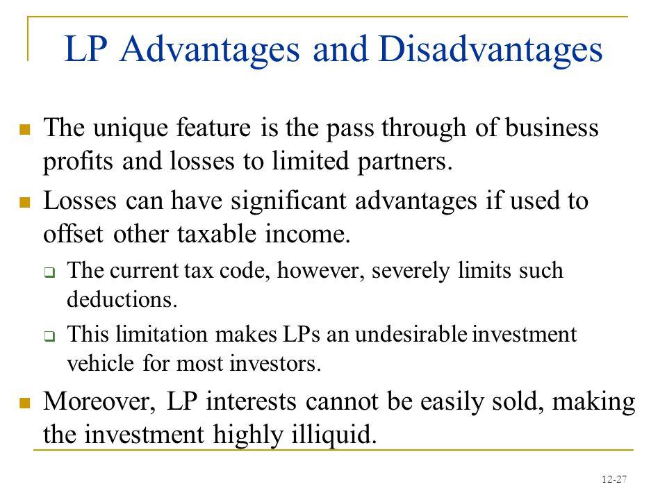 LP Advantages and Disadvantages