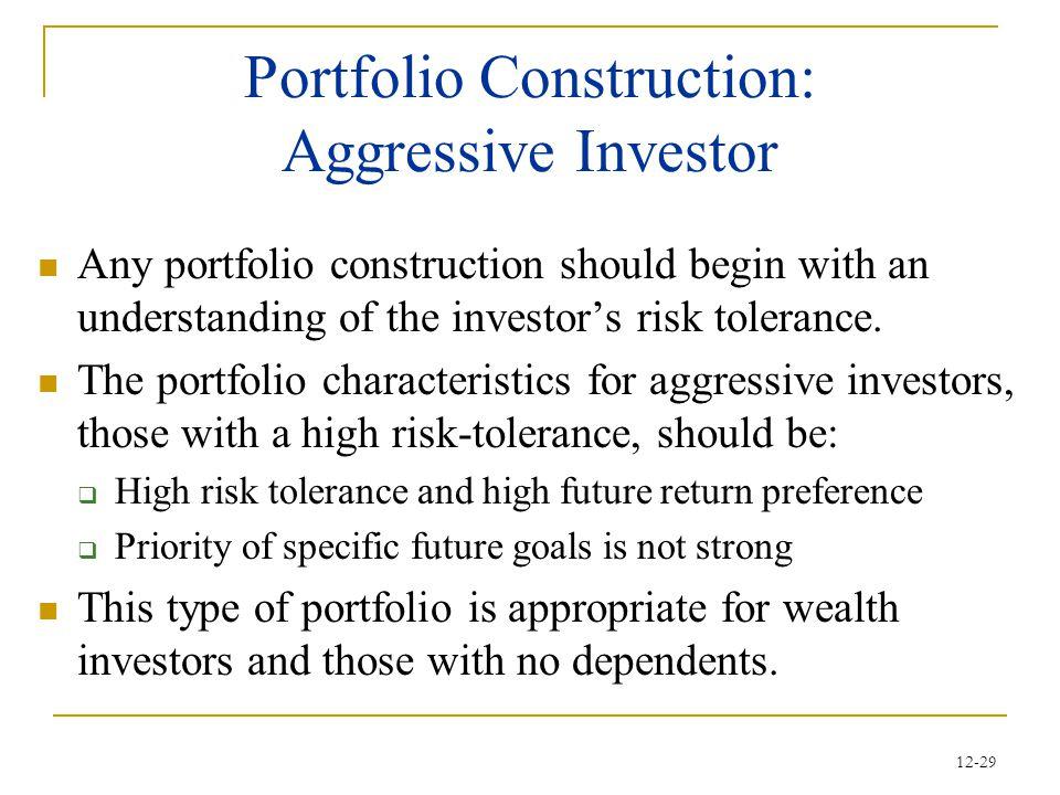 Portfolio Construction: Aggressive Investor