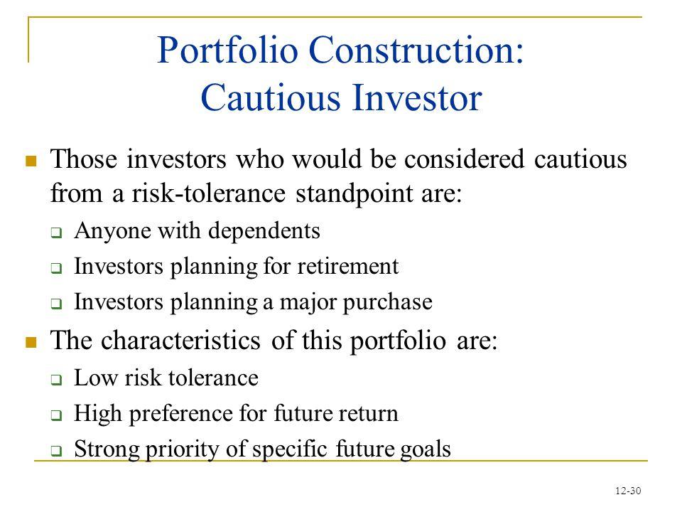 Portfolio Construction: Cautious Investor