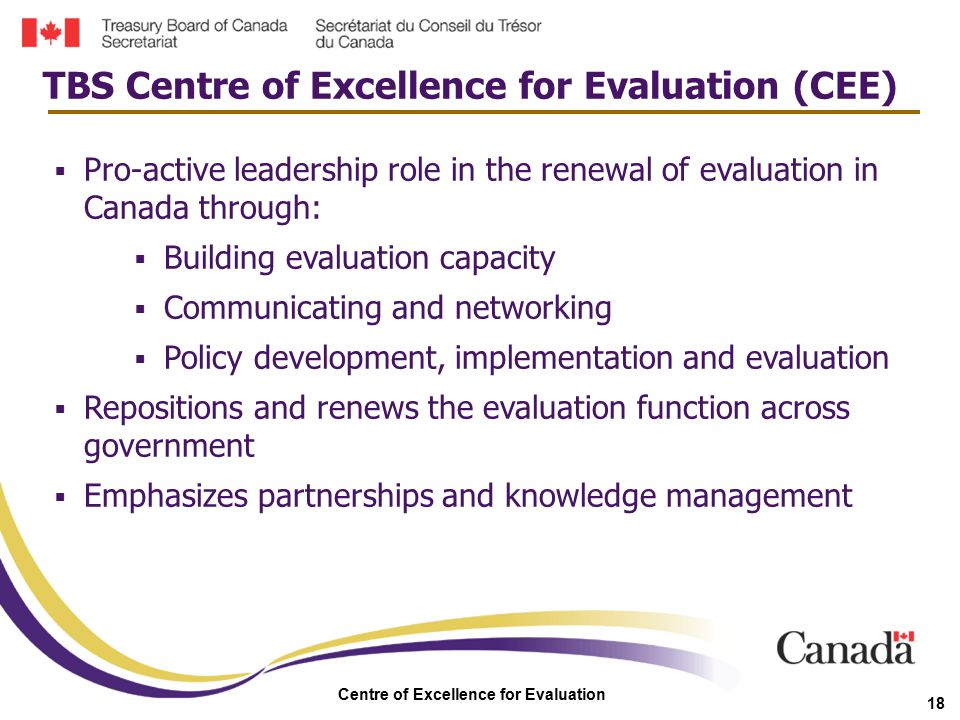 Centre of Excellence for Evaluation