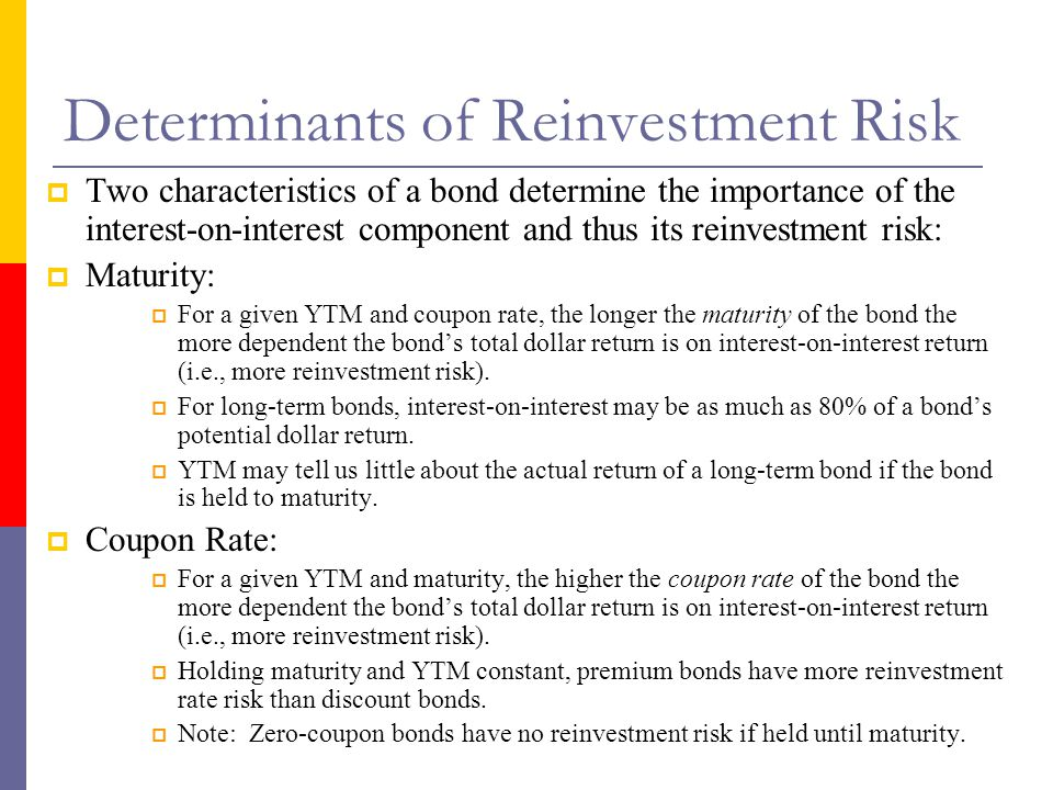Determinants of Reinvestment Risk