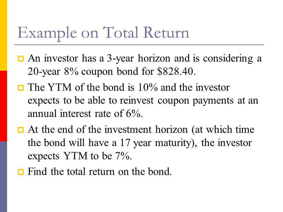Example on Total Return