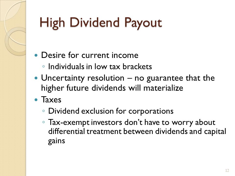 Alternatives to Paying a Dividend