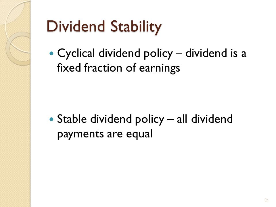 Compromise Dividend Policy