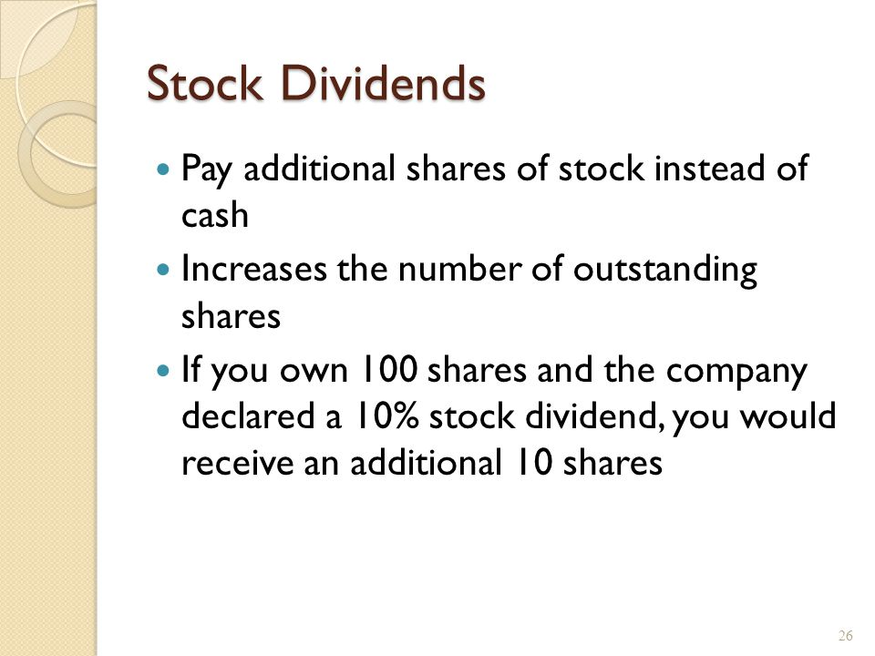 Effect of a 3% stock dividend