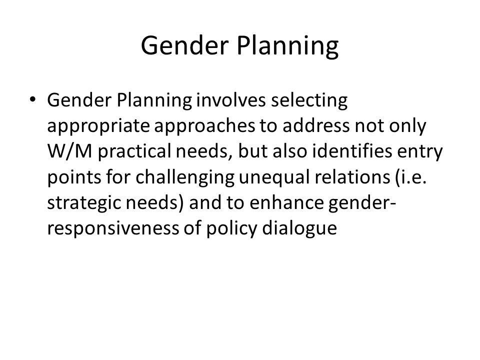 Gender Planning