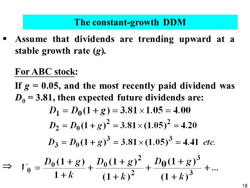 The constant-growth DDM