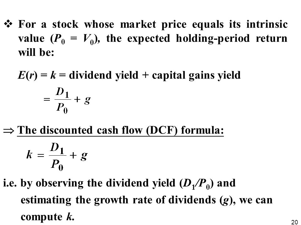 relationship between rent yield and capital value