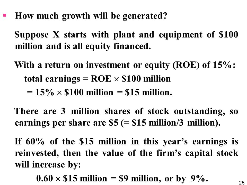 How much growth will be generated