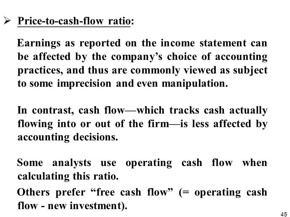 Price-to-cash-flow ratio: