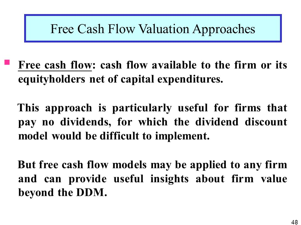 Free Cash Flow Valuation Approaches