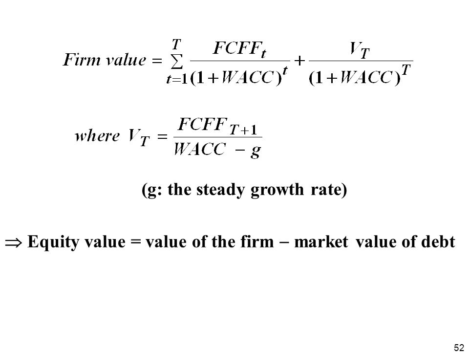 (g: the steady growth rate)