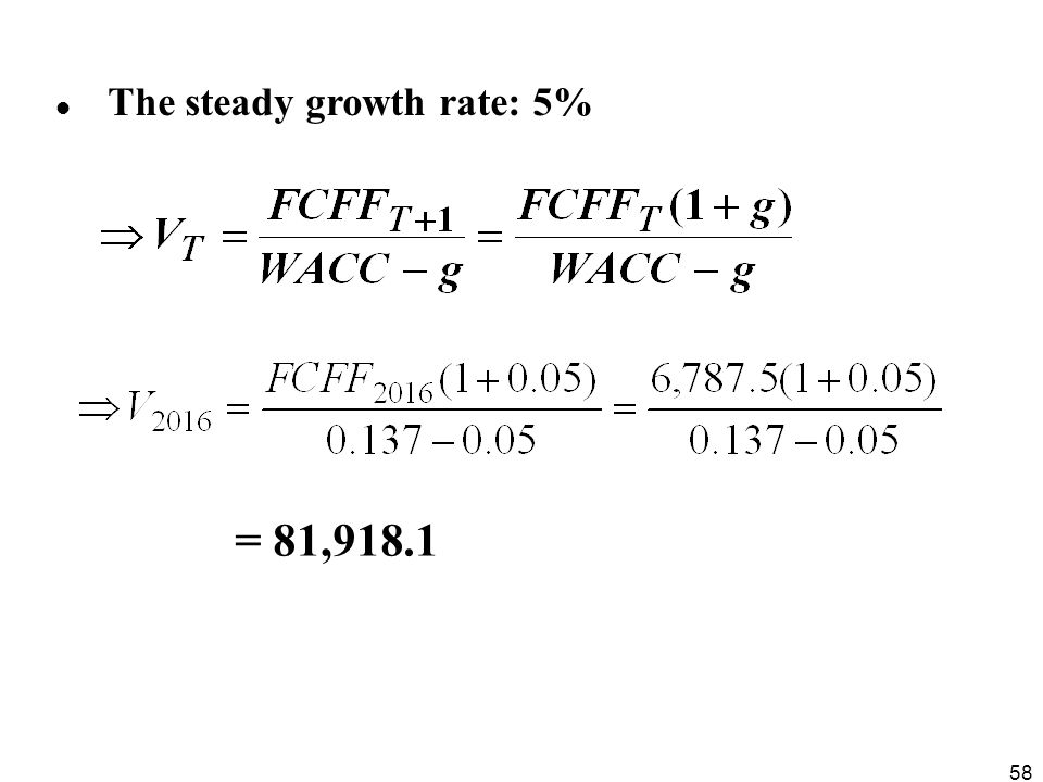 The steady growth rate: 5%
