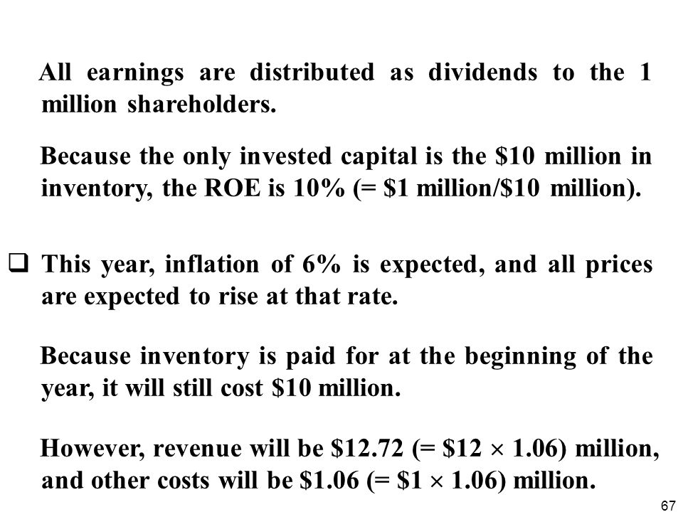 All earnings are distributed as dividends to the 1 million shareholders.