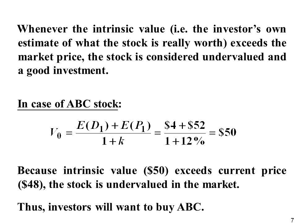 Whenever the intrinsic value (i. e