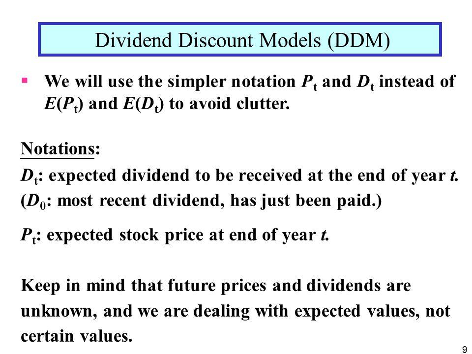 Dividend Discount Models (DDM)