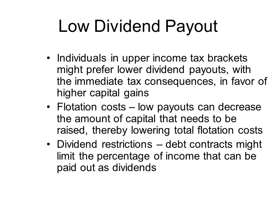 Low Dividend Payout