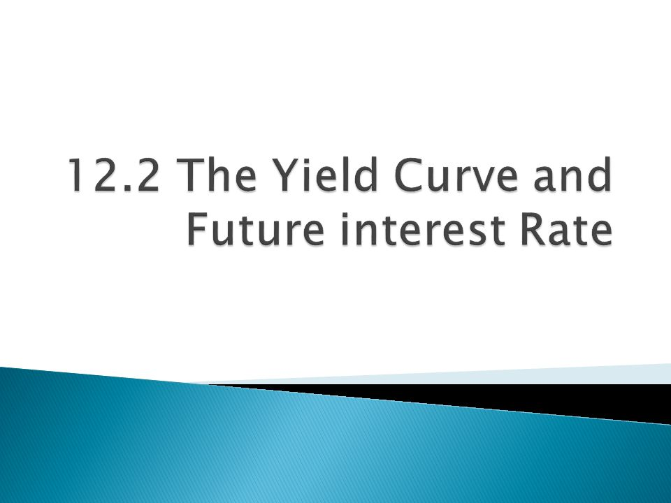 12.2 The Yield Curve and Future interest Rate