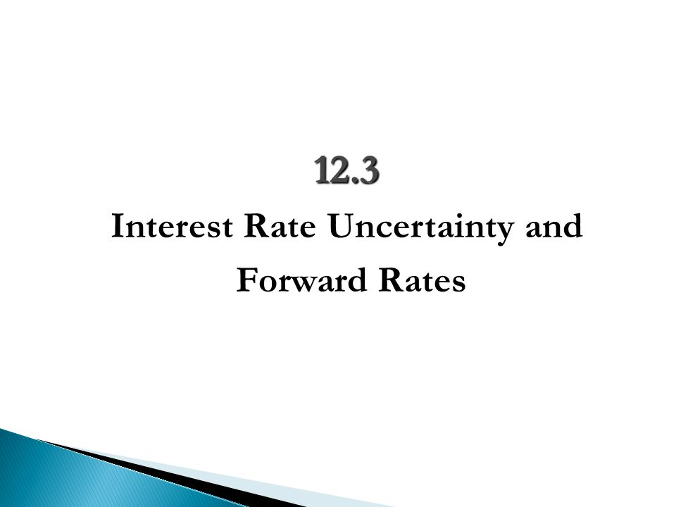 Interest Rate Uncertainty and